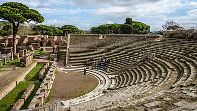 Photograph - Ostia Antica - Theatre by Debra Martz