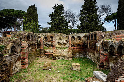 Photograph - Ostia Antica Via Delle Tombe 2 by Debra Martz