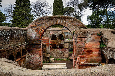 Photograph - Ostia Antica Via Delle Tombe by Debra Martz