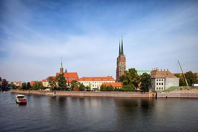 Oder Photograph - Ostrow Tumski Skyline In Wroclaw by Artur Bogacki