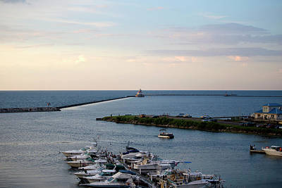 Photograph - Oswego Harbor by David Stasiak