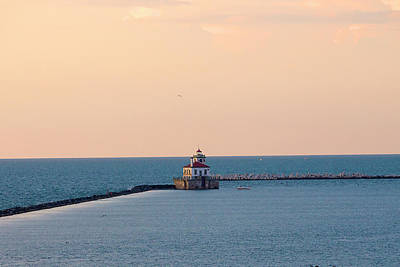 Photograph - Oswego Lighthouse by David Stasiak