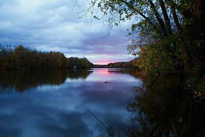 Oswego River Art Print