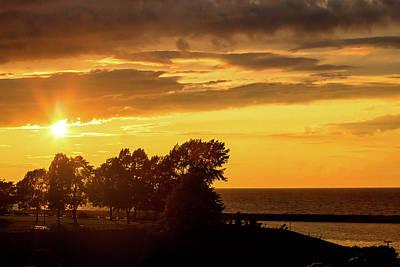 Photograph - Oswego Sunset 3 by David Stasiak