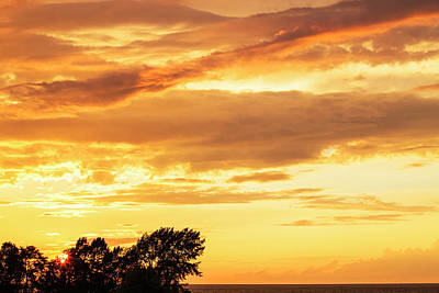 Photograph - Oswego Sunset 6 by David Stasiak