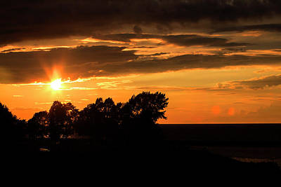 Photograph - Oswego Sunset by David Stasiak