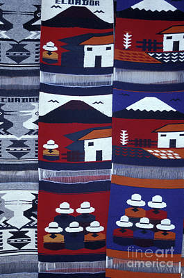 Photograph - Otavalo Wall Hangings Ecuador by John  Mitchell
