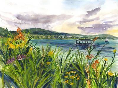Painting - Otesaga  Lake by Clara Sue Beym