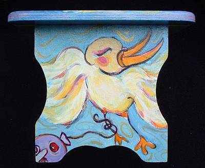 Painting - other panel for lost Balloon story stool by Michelle Spiziri