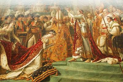 Photograph - Other Treasures Of The Louvres - 6 - The Coronation Of Napoleon by Hany J