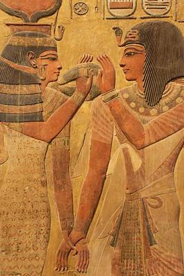 Photograph - Other Treasures Of The Louvres - 7 - Hathor And Seti by Hany J