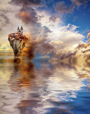 Surrealism Royalty-Free and Rights-Managed Images - Other Worlds by Jacky Gerritsen