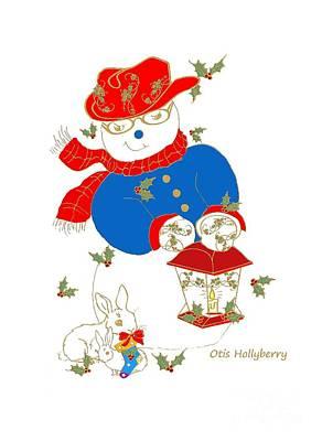Mixed Media - Otis Hollyberry And Friends by Belinda Landtroop