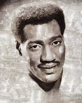 Rock And Roll Royalty-Free and Rights-Managed Images - Otis Redding by Mary Bassett by Mary Bassett