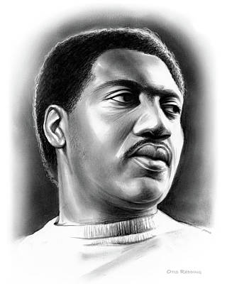 Music Drawings - Otis Redding by Greg Joens