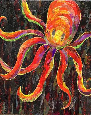 Painting - Otis The Octopus by Phiddy Webb