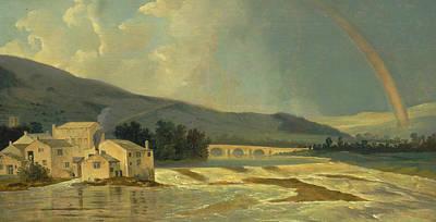 Painting - Otley Bridge On The River Wharfe by Treasury Classics Art