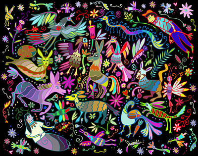 Digital Art - Otomi Joy by Marti McGinnis