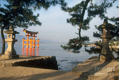 Miyajima Photograph - Otori Gate Of The Itsukushima Shrine by Ulrike Welsch