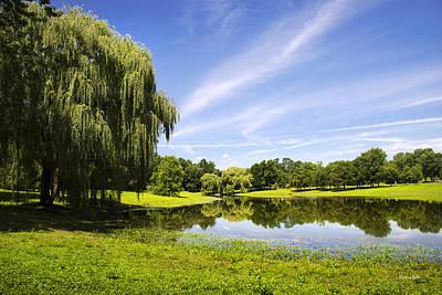 Photograph - Otsiningo Park Reflection Landscape by Christina Rollo