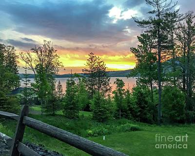 Photograph - Otstego Lake Sunset by DJ Laughlin