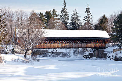 Art Print featuring the photograph Ottaquechee Middle Bridge by Susan Cole Kelly