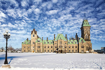 Peace Tower Wall Art - Photograph - Ottawa Parliament East Block by Jane Rix