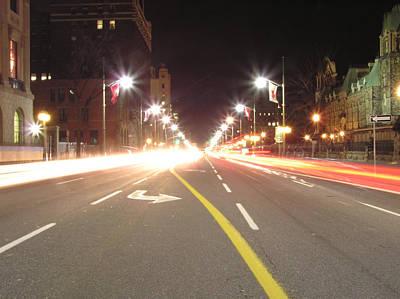 Ottawa Street At Night Art Print by Richard Mitchell