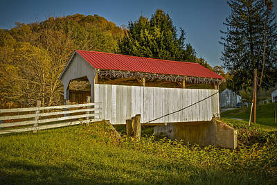 Photograph - Otte Covered Bridge by Jack R Perry