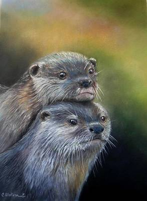 Painting - Otter Be Two by Ceci Watson