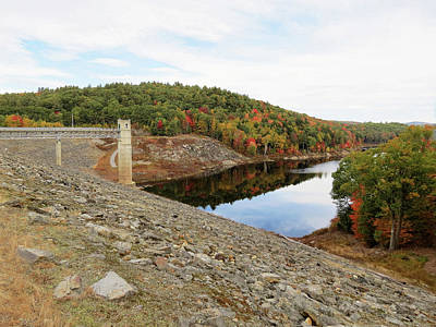 Photograph - Otter Brook Dam In Autumn by MTBobbins Photography