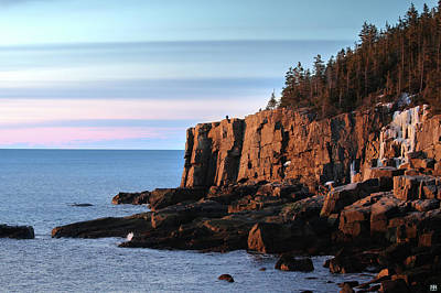 Photograph - Otter Cliffs At Sunrise by John Meader