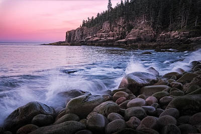 Acadia Photograph - Otter Cliffs At Sunset - Acadia National Park by Jeff Bazinet