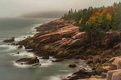 Art Print featuring the photograph Otter Cliffs by Gary Lengyel