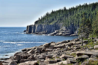 Coastal Maine Photograph - Otter Cliffs In Acadia National Park - Maine by Brendan Reals