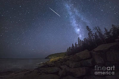 Star Gazing Photograph - Otter Cove Meteor by Marco Crupi