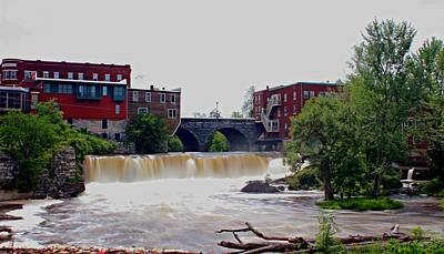Middlebury Photograph - Otter Creek Falls by Dominic Labbe