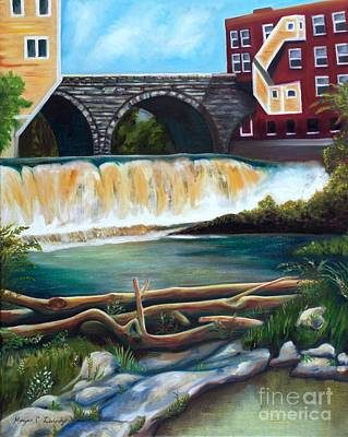 Middlebury Painting - Otter Creek Falls by Morgan Leshinsky