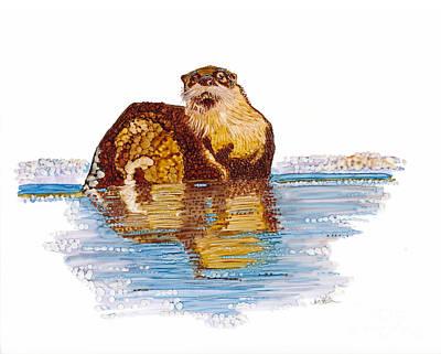 Otter Mixed Media - Otter by Jan Killian