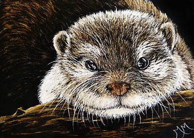 Otter Mixed Media - Otter by Monique Morin Matson