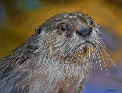 Art Print featuring the painting Otter Or Not by Ceci Watson