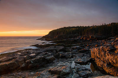 Fall Photograph - Otter Point At Dusk by Benjamin DeHaven
