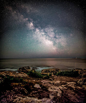 Photograph - Otter Point Under The Stars. by Brent L Ander
