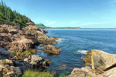 Photograph - Otter Rocks Coastline by John M Bailey