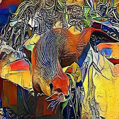 Gb Drawing - otter - My WWW vikinek-art.com by Viktor Lebeda