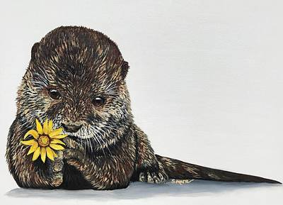 Painting - Otterly Charming by Shannon Marie Schacht