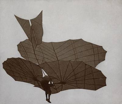 Otto Lilienthal 1848-1896 Flying Art Print