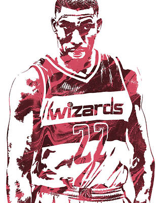 Free Mixed Media - Otto Porter Washington Wizards Pixel Art by Joe Hamilton