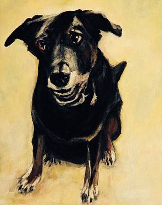 Painting - Otto The Dog by Denice Palanuk Wilson