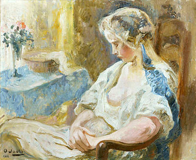 Painting - Young Lady Sitting by Otto Vautier
